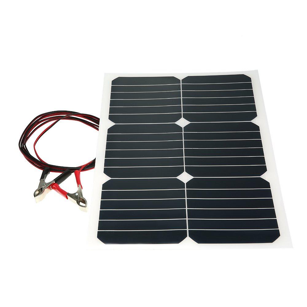 Walmeck Mono chip del pannello solare semiflessibile per imbarcazioni con caricabatterie