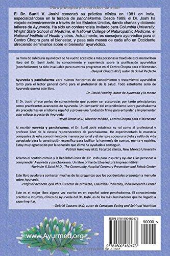 Ayurveda y panchakarma: La ciencia de rejuvenecimiento y la desintoxicacion: Amazon.es: Dr Sunil Joshi, Santiago Suarez, Nathalie Ceron, Fernanda Montoya: ...