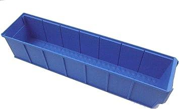 Caja industrial 400x91x81 mm azul Cajas Almacén Cajas Apilables Caja Universal Caja Plástico Caja Plástico Caja Para Guardar: Amazon.es: Bricolaje y herramientas