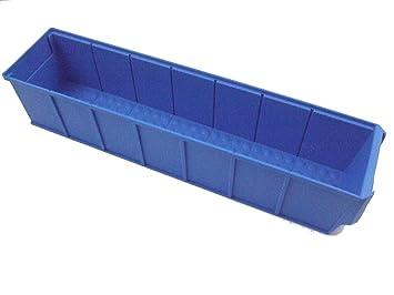 Caja industrial 400x91x81 mm azul Cajas Almacén Cajas Apilables Caja Universal Caja Plástico Caja Plástico Caja Para Guardar: Amazon.es: Bricolaje y ...