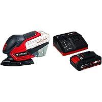 Einhell 4460713 Lijadora Multi TE-OS 18 li, 0 W, 18 V, Rojo + 4512040 Kit con Cargador…