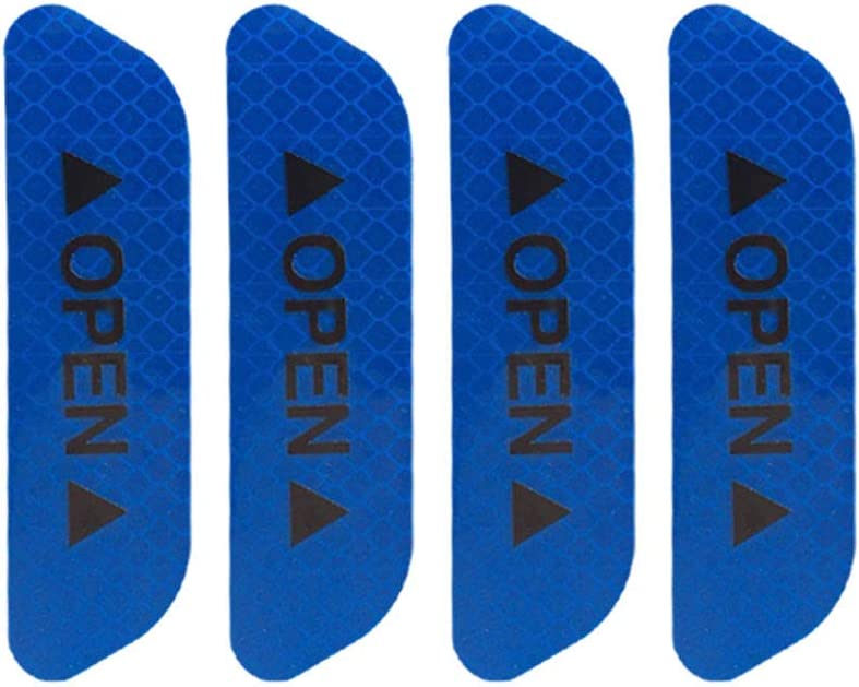 Blue Reflective Safety Mark Strips Car Door Stickers Warning Tape Auto Decal