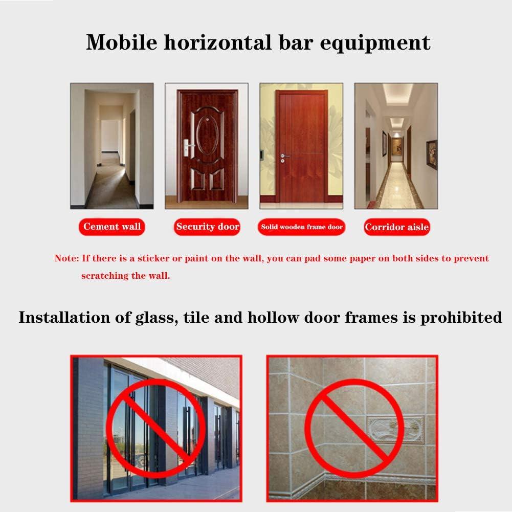 barra horizontal Barra de dominadas para puerta de casa agarre suave sin perforaciones y cerradura cuadrada multifuncional barra horizontal