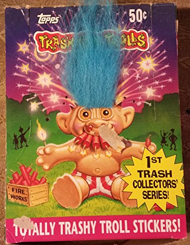 TRASH CAN TROLLS OPENED BOX WITH 36 UNOPENED PACKS...COLLECTIBLES (Trash Can Trolls compare prices)