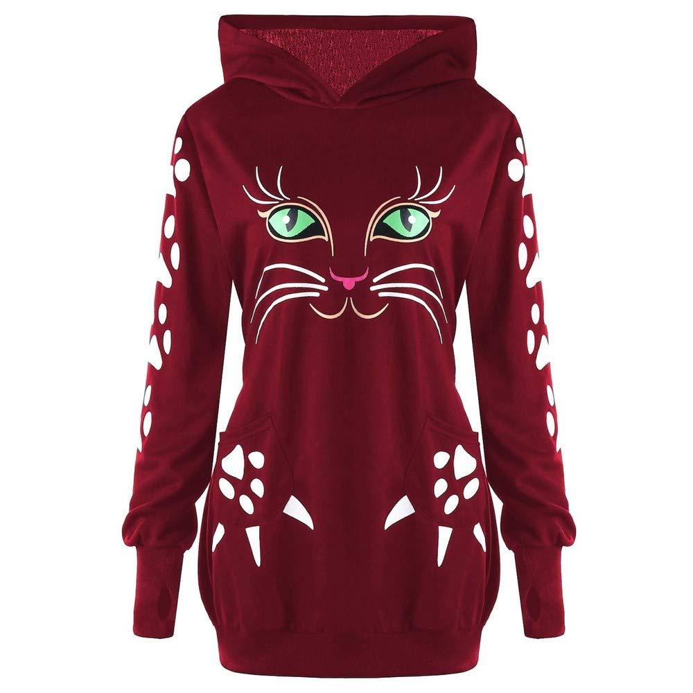 Kapuzenpullover Damen Herbst Winter Hoodie Sweater Warm Langarmshirt Loose Fit Strickpullover Mode Jumper Pullover Btruely Sweatshirt