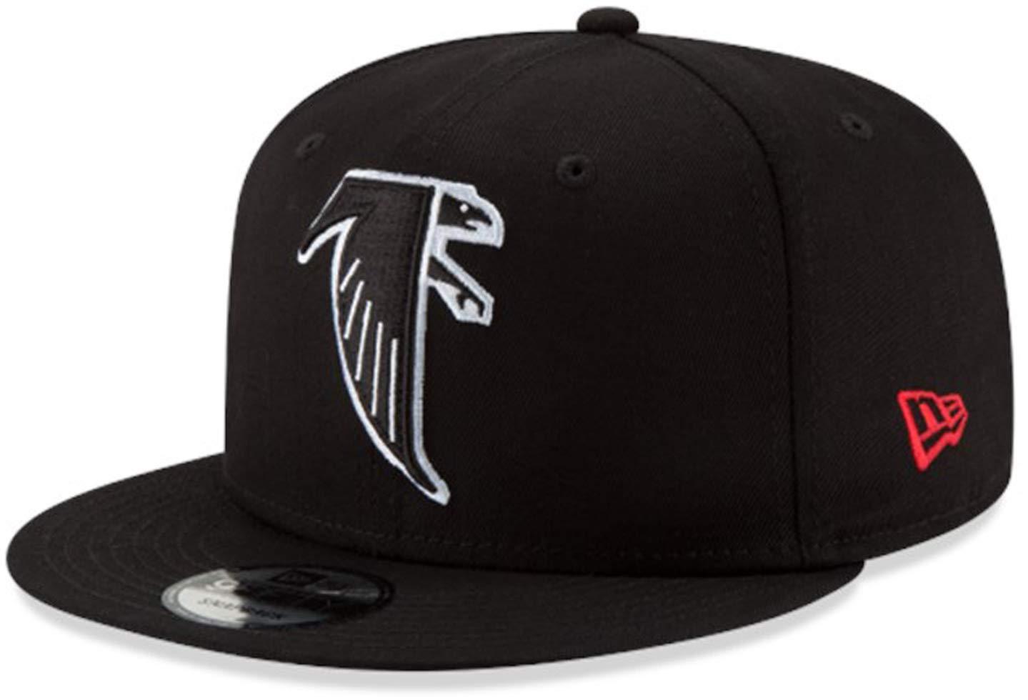 10add2bc New Era Atlanta Falcons Hat NFL Black Team Color Historic Logo 9FIFTY  Snapback Adjustable Cap Adult One Size : OSFM