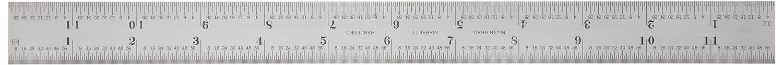 Starrett CB12 4R Blade for Combination Squares Satin Chrome 12 4R Grad