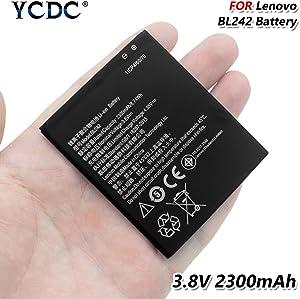 2PCS Replacement Battery,BL242 Battery 3.8V 2300mAh for Lenovo A3690 A3900 A6010 Plus K30-W K30-T K30-E