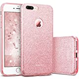 ESR iPhone 7 Plus Case,Glitter Sparkle Bling Case [Three Layer] for Girls Women