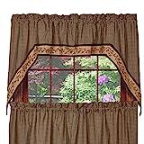 Piper Classics Berry Vine Swag Curtain, 72''x36'', Country Primitive Swag w/Border