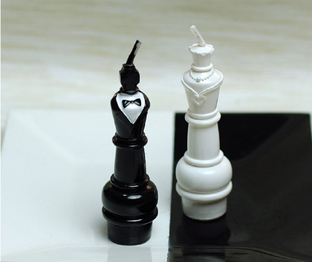 Amazon com red cherry white and black king and queen international chess candles home kitchen