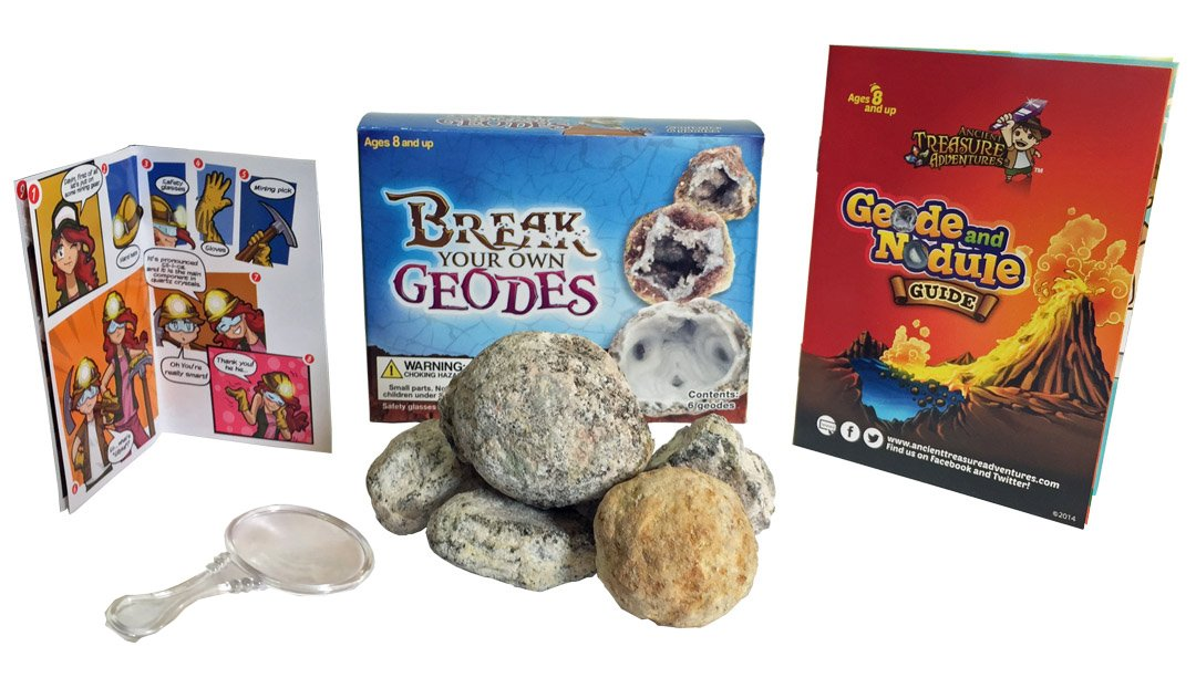 Break Your Own Geodes 6 Whole Geodes Gem Center U.S.A BYOG6PC
