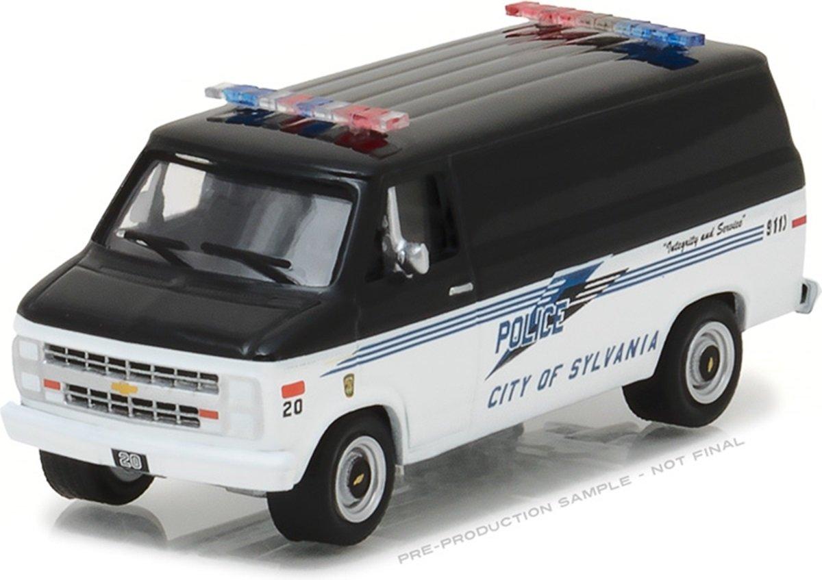 Greenlight 1 64 Sylvania OH Police 1985 Chevy G20 Van