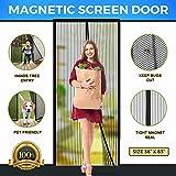 """#10: Screen Door Magnetic Screen Door Full Frame Magnetic Screen Door with Heavy Duty Mesh Curtain Fits Door Sizes Up To 36""""x83"""" Bugs Out Screen Door Insect Out Screen Door Magnetic Door Screen"""
