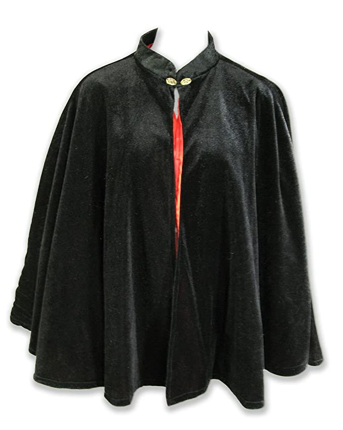 Vintage Coats & Jackets | Retro Coats and Jackets Velvet Circular Cut Half Cloak Capelet Lined in Satin with two-button clasp $54.99 AT vintagedancer.com
