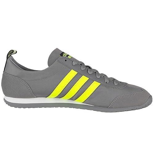 0d2fb6299ba4 adidas New Mens Gents Grey Neon Neo Vs Jog Lace Ups Trainers - Grey ...