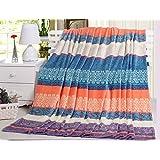 "psychedelic Bohemian pattern soft 100% polyester blanket medium size 60""(w)x80""(h)"