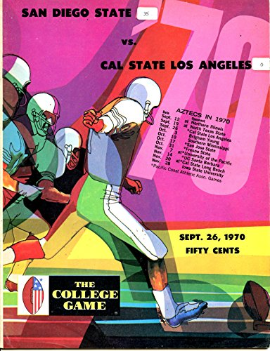 Cal State Los Angeles Golden Eagles vs San Diego State Aztecs College Football Program- 9/26/1970 (Angeles Football State Los)