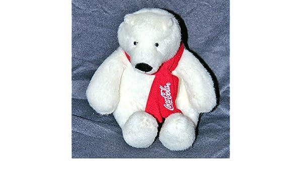 2007 Coca-Cola Polar Bear 10 Inch Stuffed Animal Plush Bean Bags