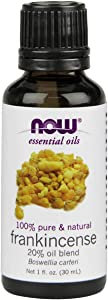 NOW Essential Oils, Frankincense Oil Blend, 20% Blend of Pure Frankincense Oil in Pure Jojoba Oil, Centering Aromatherapy Scent, Steam Distilled, Vegan, 1-Ounce