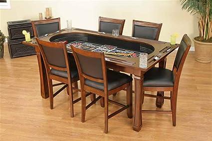 Attirant American Heritage Burlington 7 Piece Convertible Game Table U0026 Chairs Set