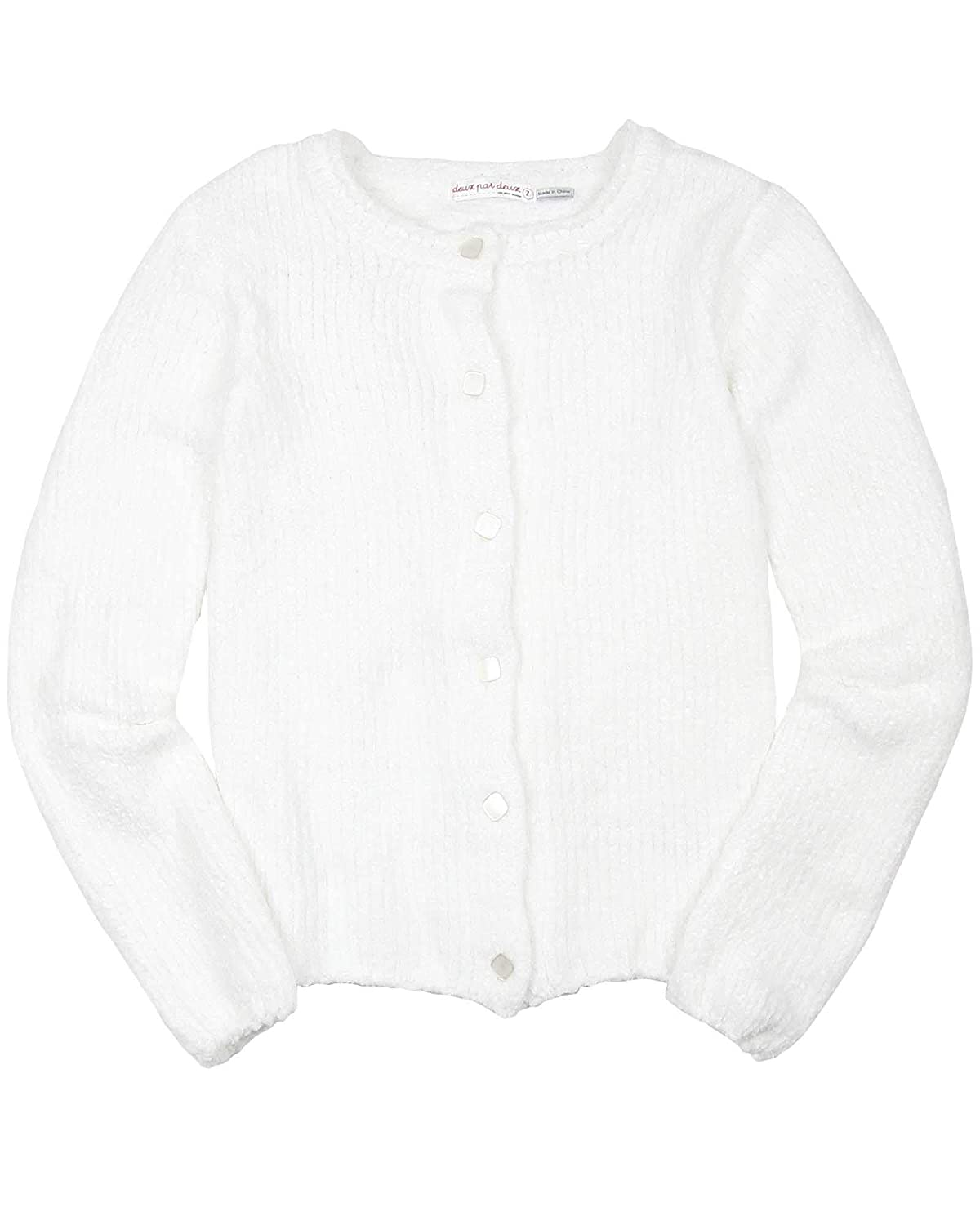 Deux par Deux Girls Chenille Cardigan Unicorns are Real Sizes 5-12
