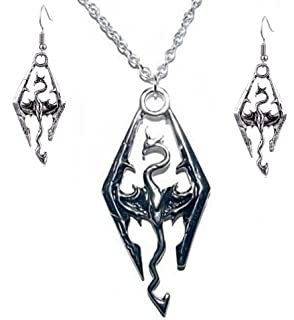 Amazon.com: The Elder Scrolls Skyrim Dragon Symbol Metal ...