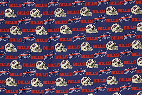 Buffalo Bills Football Royal Sheeting Fabric Cotton 5 Oz -