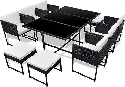 ensemble table chaise noir exterueur