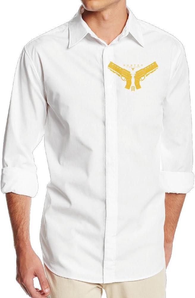 Cazador pistolero duola hombre suave manga larga Casual camiseta – blanco: Amazon.es: Ropa y accesorios