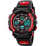 Waterproof Sport Watch for Women Men Boy Digital LED Electronic Outdoor Military Watch Analog Quartz Dual Timezone 50M…