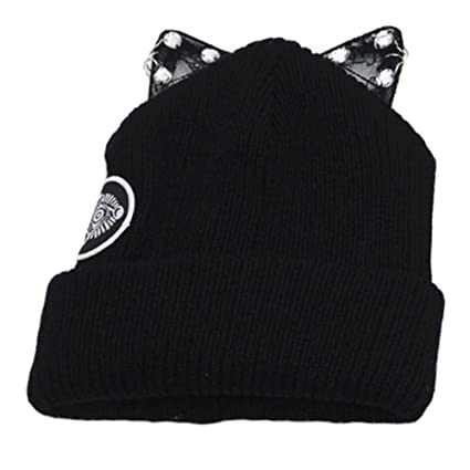 400e5854190 Image Unavailable. Image not available for. Color  Girls Adorable Stylish Warm  Beanie Hat Skully Hat Winter Knit Cap