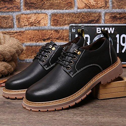 los Negro Ocasionales Grandes Especialmente de Hombres extragrandes Negro los Grandes Zapatos Zapatos Botas Bebete5858 Botas Gruesos Hombres de TqXA01x