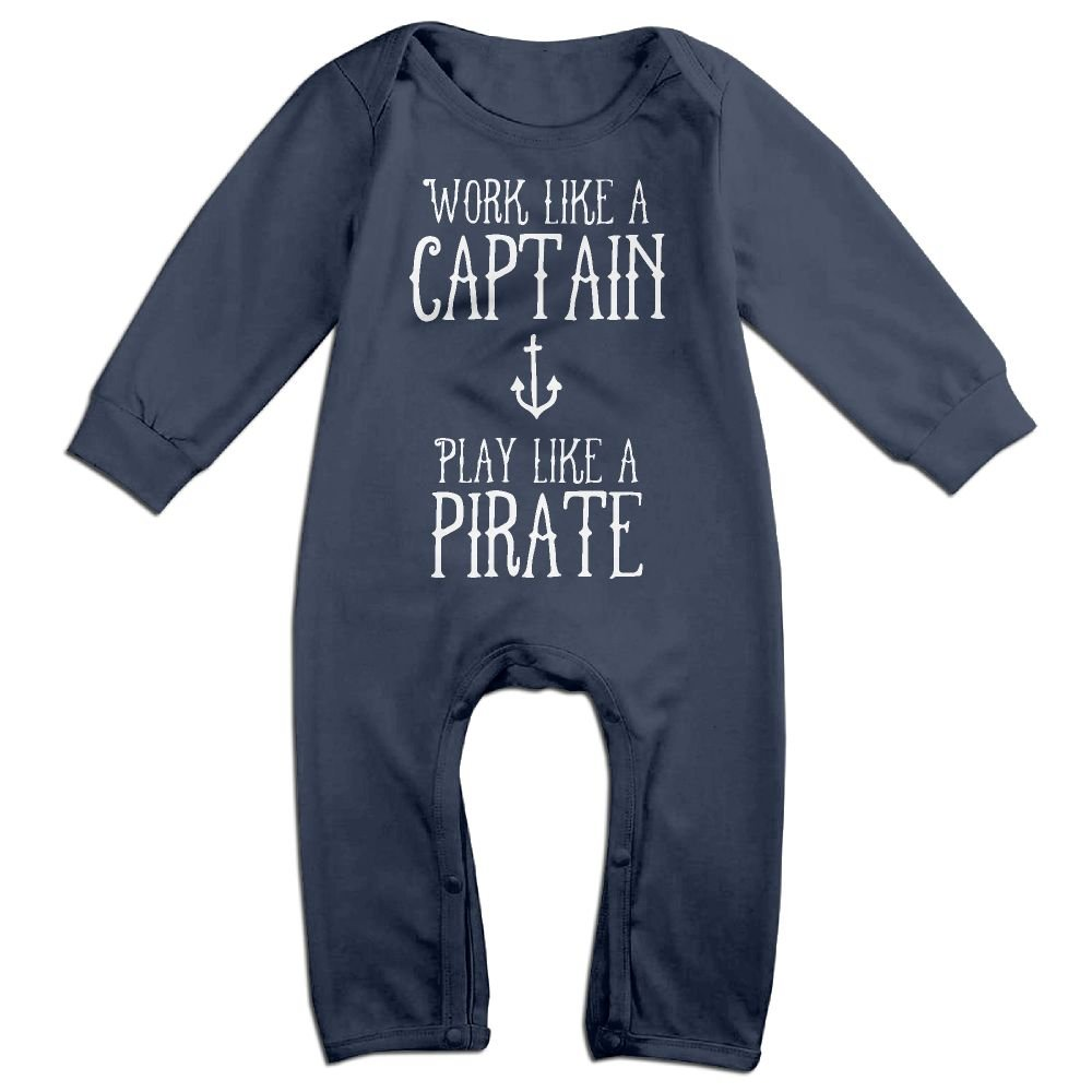 Toddler Baby Boy Girl Long Sleeve Jumpsuit Work Like A Captain Baby Clothes