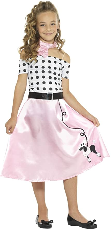 e9a2c8a50e46 Girls 1950s 50s Sweetie Poodle Skirt Sock Hop TV Book Film World Book Day  Week Fancy Dress Costume Outift (4-6 years): Amazon.co.uk: Toys & Games