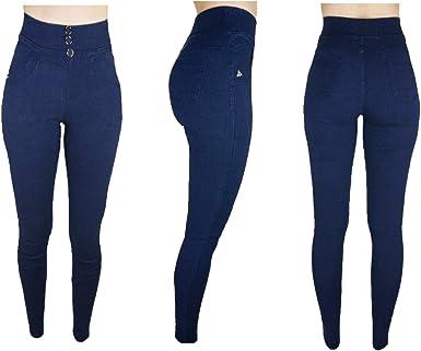 Trendcool Vaqueros Mujer Elasticos Pantalones Mujer Jeggins Jeans Push Up Leggins Para Mujer Invierno Jeggins Mujer Skinny High Waist Amazon Es Ropa Y Accesorios