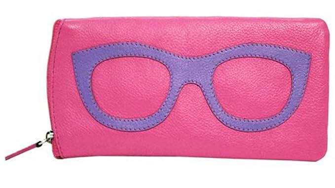 9f3206dce07b ILI 6462 Leather Eyeglass Case (Hot Pink Amethyst)  Amazon.co.uk ...