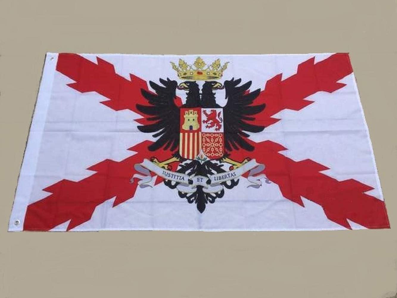 a-more.es Bandera Decorativa Tercios españoles - Imperio español - con Escudo - 150 x 90 cm.: Amazon.es: Jardín