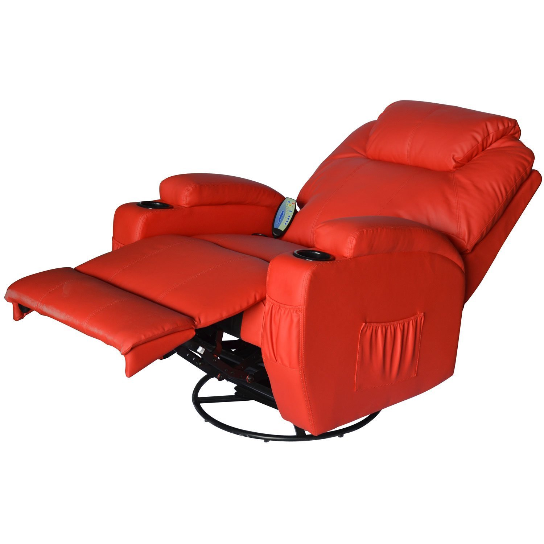 Amazon Hom Heating Vibrating PU Leather Massage Recliner