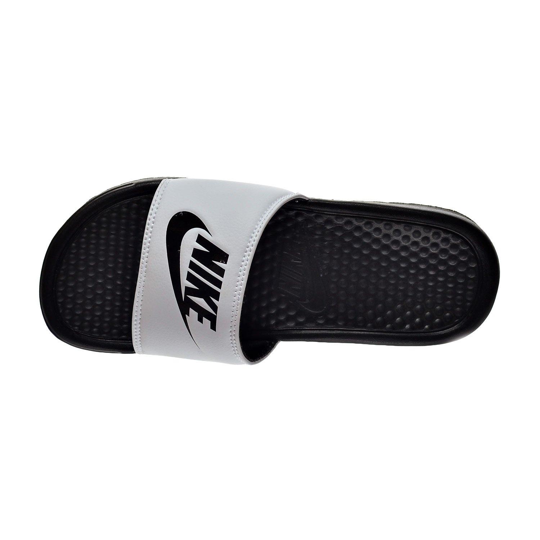 193feb916bde Nike Benassi JDI Mens Sandals White Black 343880-100 (12 D(M) US)  Buy  Online at Low Prices in India - Amazon.in