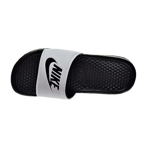 33dd5d287f4f Nike Benassi JDI Men s Sandals White Black 343880-100  Amazon.co.uk ...