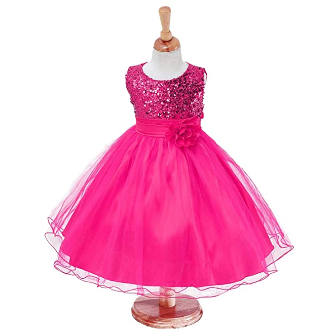 Amazon.com: Chitop Baby Girls Flower Sequins - Dress Party Princess ...
