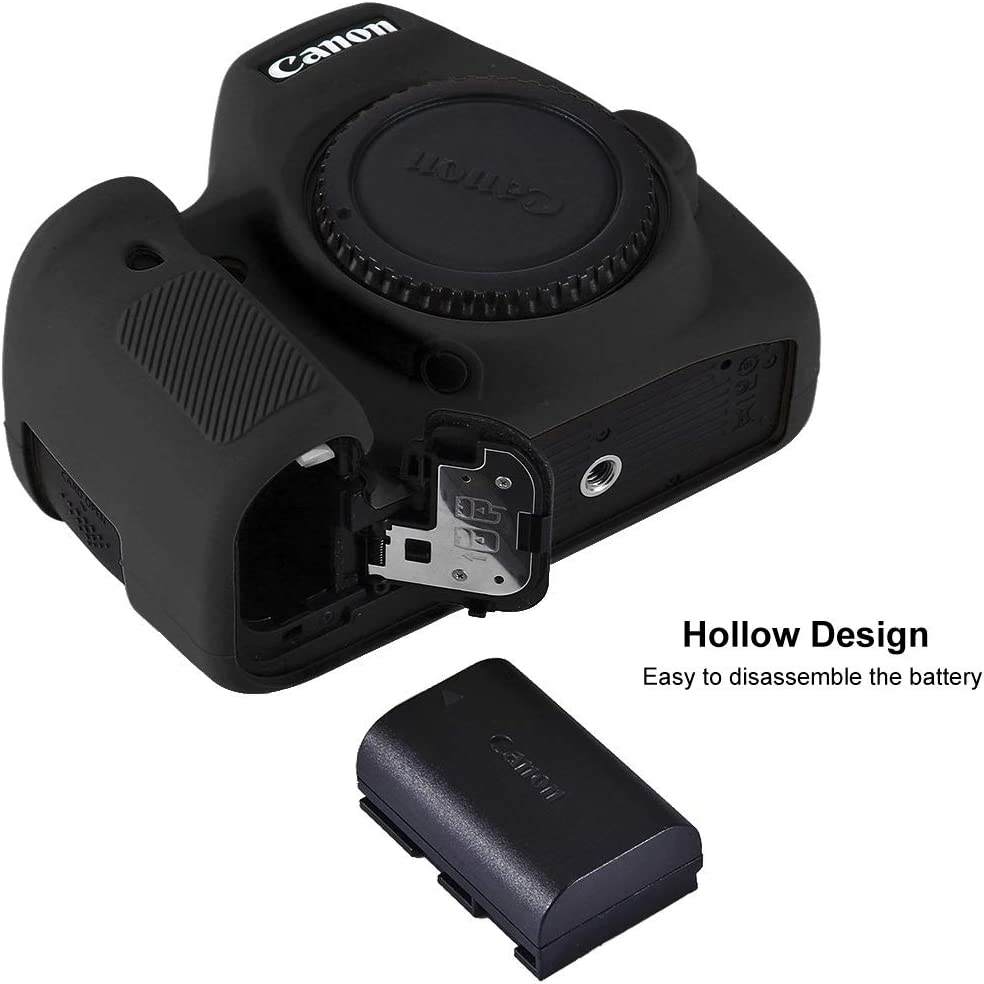 Color : Black Camouflage Ychaoya Camera Case Wuzpx Mild Silicone Protective Case for Canon EOS 6D