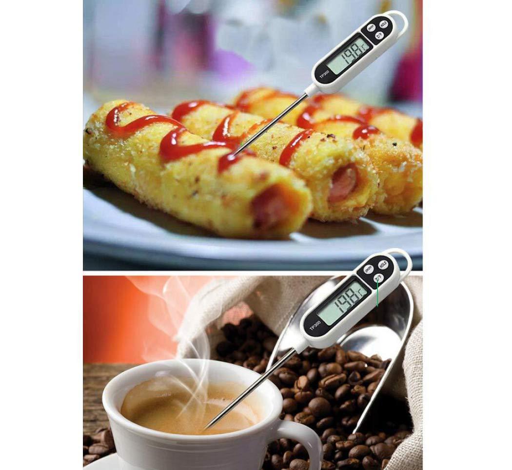 Compra DPPAN Termómetro de Cocina, Cocina de Lectura instantánea Termometro de Alimentos, Carne Aceite Café Leche Yogurt BBQ Termómetro de sonda, ...