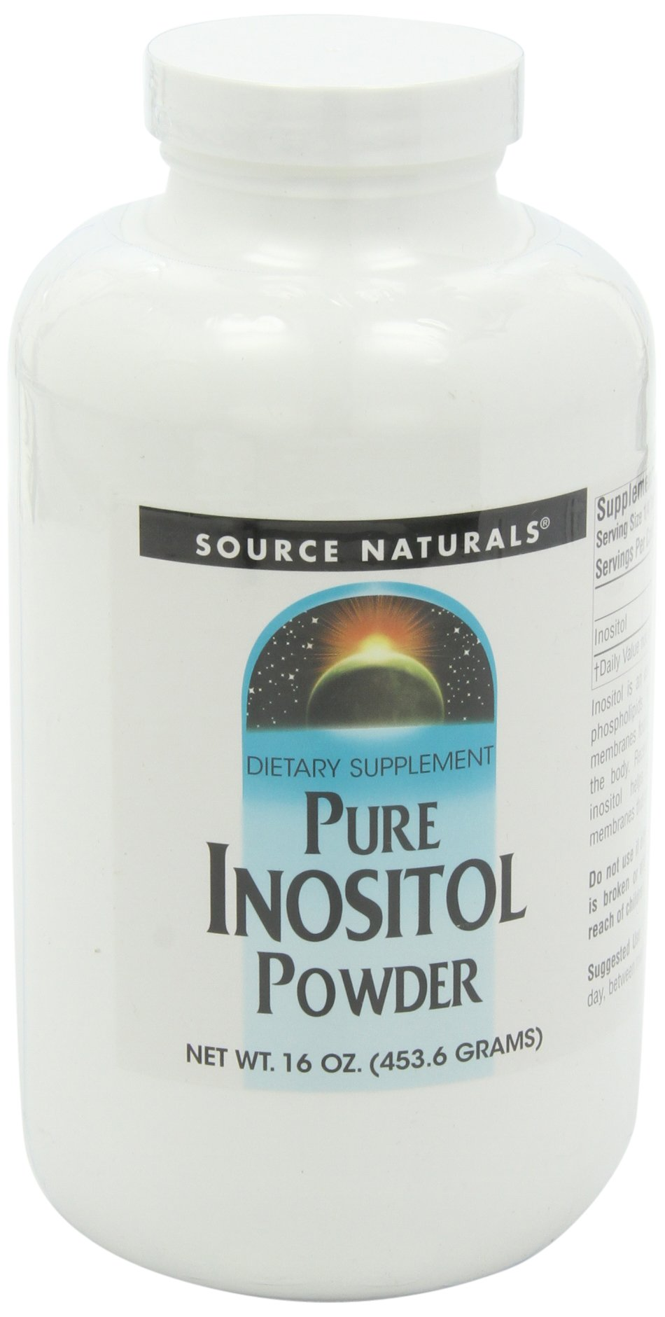 Source Naturals Pure Inositol Powder, 16 Ounce by Source Naturals