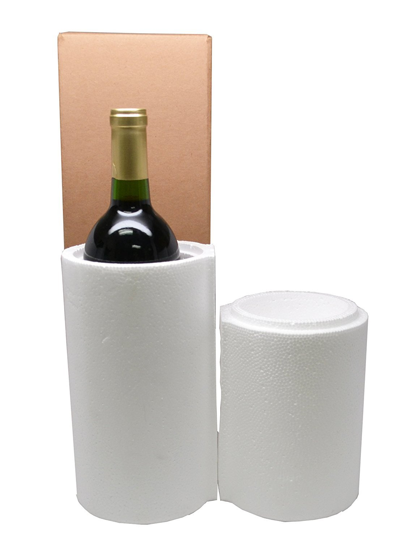 1 Bottle Styrofoam Wine Shipping Cooler - COOL-01 Miller Supply Inc NA