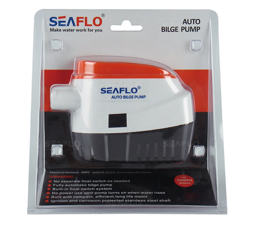 Seaflo Automatic Submersible Boat Bilge Water Pump 12v Two Way Switch For 750gph Auto With Float Pumps Boats Sports Outdoors