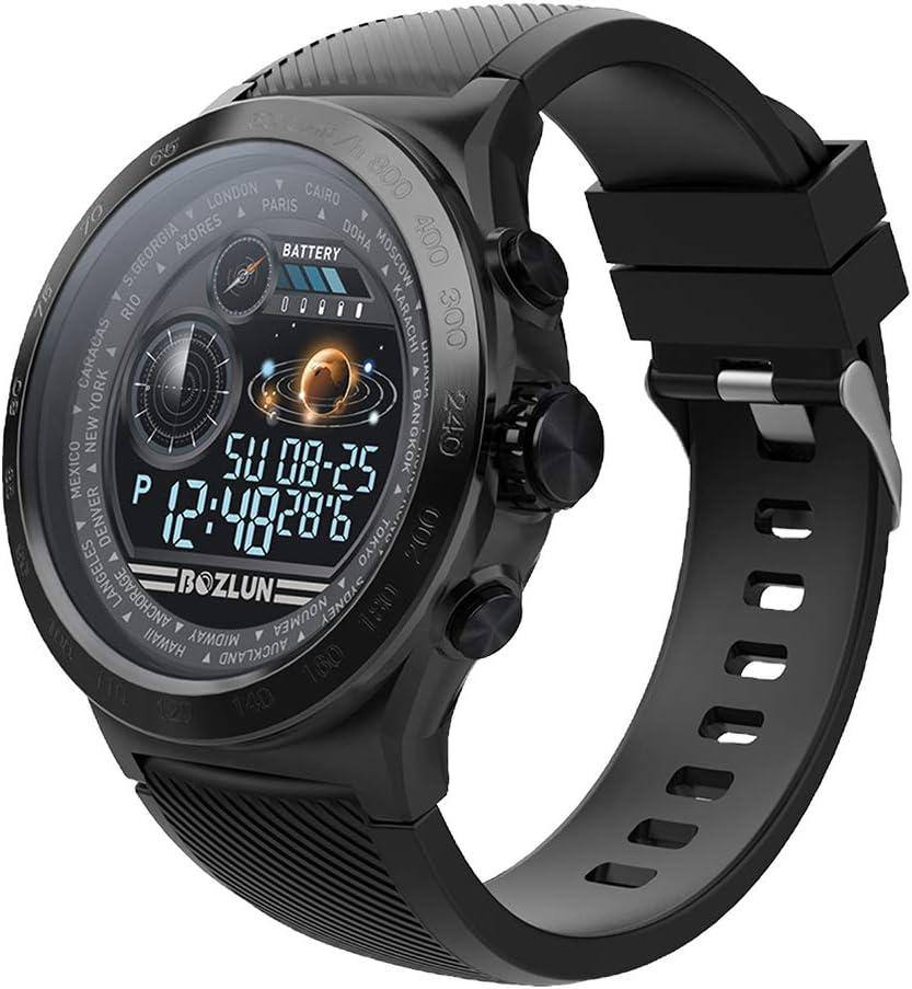 Montre Intelligente Homme,Moniteur de fréquence Cardiaque avec écran Couleur, IP67 étanche Réveil Automatique écran Montre Intelligente téléphone