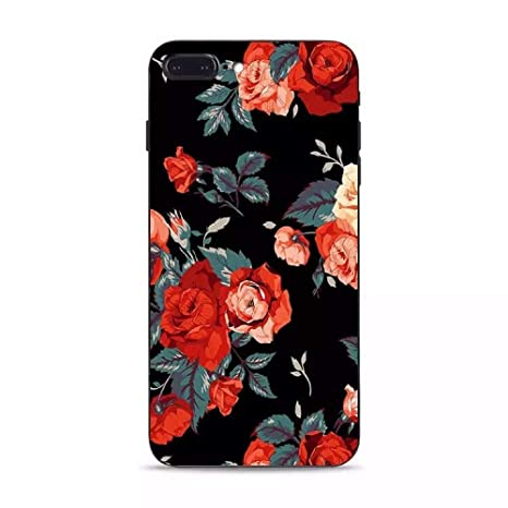 ecf7011e7c Amazon | Spinas(スピナス) iphone ケース 花柄 バラ 浮彫り 3D 耐衝撃 ...