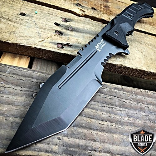 "MOON KNIVES 12"" G10 TACTICAL SURVIVAL Rambo Hunting FIXED BLADE KNIFE Army Bowie Machete"